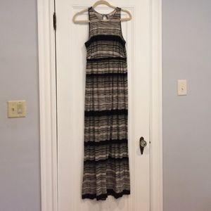 LOFT maternity maxi dress